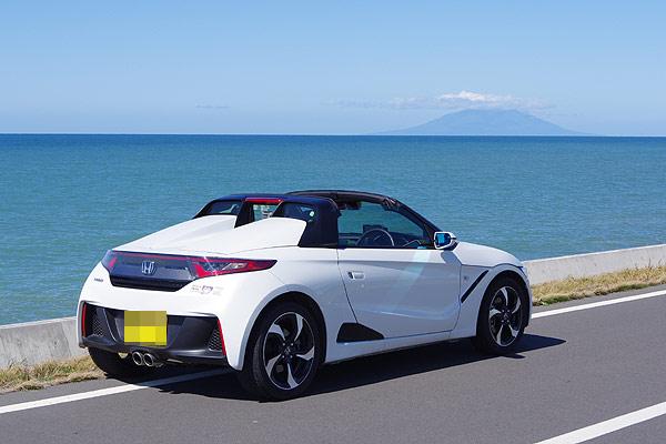S660 快晴の更岸線 オロロンライン 利尻富士