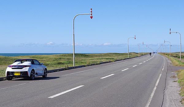 S660 北海道ツーリング 道道106号 オロロンライン 稚内方面 北行き