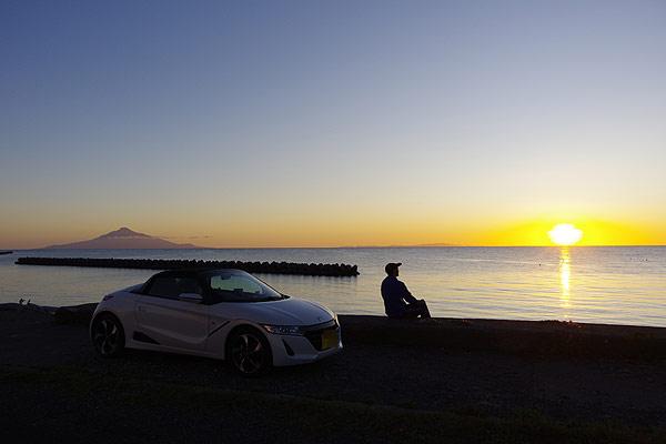 S660 北海道ツーリング ノシャップ岬 夕陽