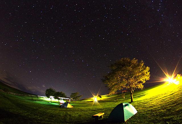 S660 北海道ツーリング 多和平キャンプ場の星空