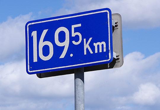 S660 北海道ツーリング 2019 日勝峠 R274 旧式書体 169.5キロポスト