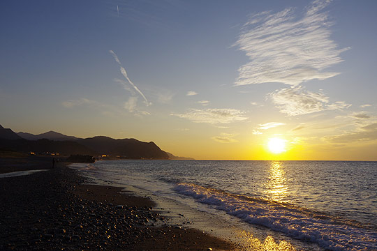 S660 ツーリング 糸魚川 日本海の夕陽
